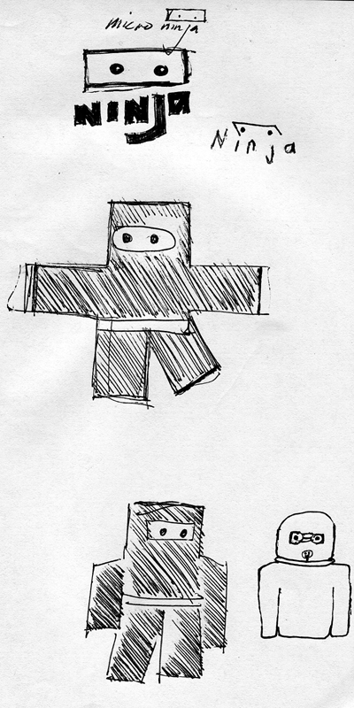 sketch of square-bodied ninjas from 2009